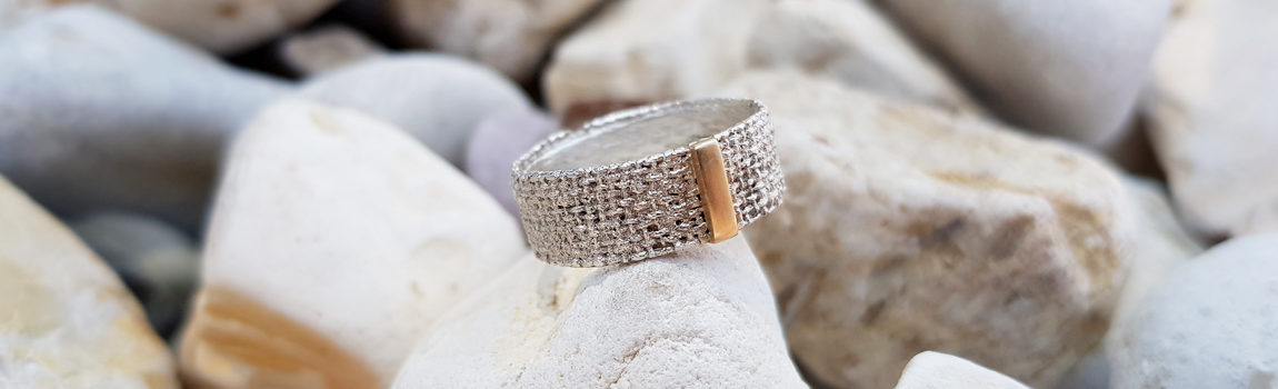 silver and gold ring handmade jewelry design