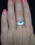 012OH2 turquoise silver ring