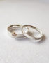 set of two silver rings