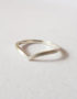 wave ring chevron shaped silver ring