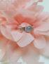 sterling silver ring rose quartz