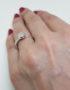 sterling silver ring rose quartz cabochon