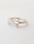 origami bow silver ring
