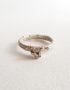 genuine garnet silver ring
