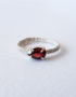 genuine garnet silver ring for woman girlfriend gift