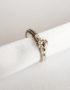 hidden garnet ring solitaire silver ring with gemstone