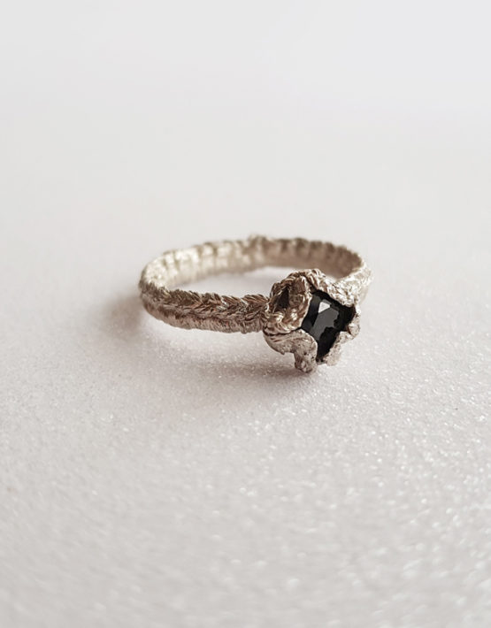 one of a kind sterling silver ring cubic zirconia