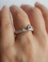 one of a kind sterling silver solitaire ring