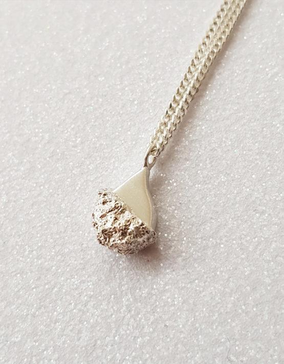 silver tear drop pendant charm