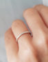 minimalist delicte silver ring for woman