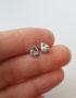 drop shaped silver stud earrings for woman