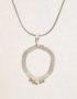 minimalist asymmetrical silver pendant for woman