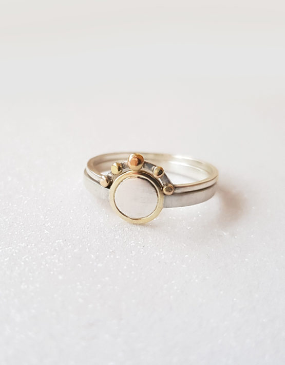 set of silver stacking rings