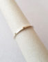 simple silver ring with gold accent