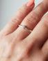 3mm diamond white gold proposal ring