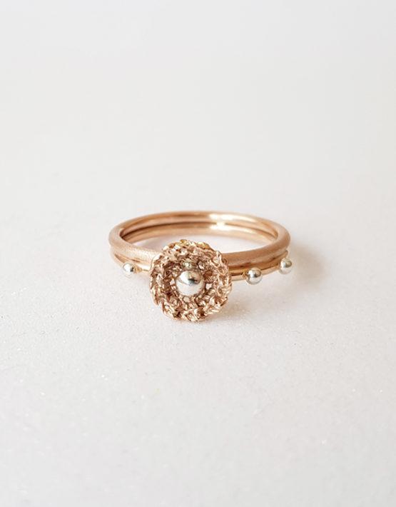 delicate feminine rose gold ring