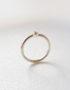 minimalist white gold ring with diamond