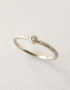 small diamond white gold ring