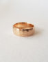 wide edged gold ring