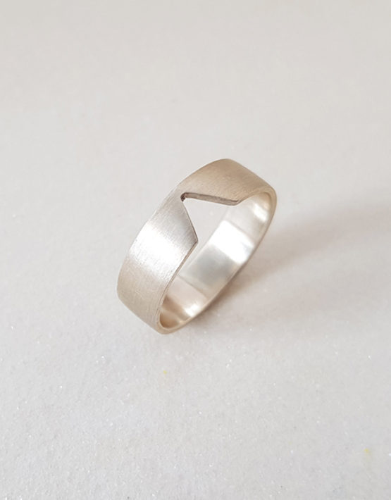 plain silver ring for women