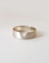wide plain silver ring