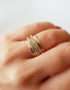 one of a kind spinner ring made of gold