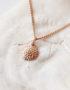 rose gold handmade necklace