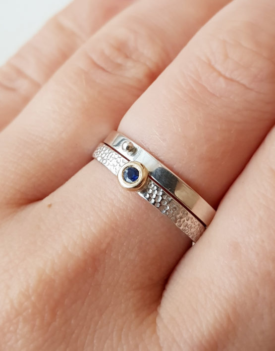 set of 2 silver rings with sapphire5