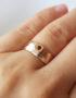 unique rose gold wide ring